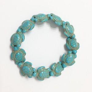 Turquoise Turtle Stretch Bracelet